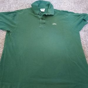 Lacoste Polo Rugby Golf Green Shirt Men's Size 6